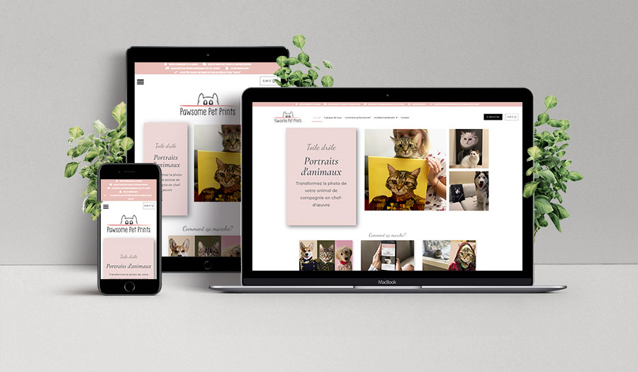 Pawsome Pet Prints responsive